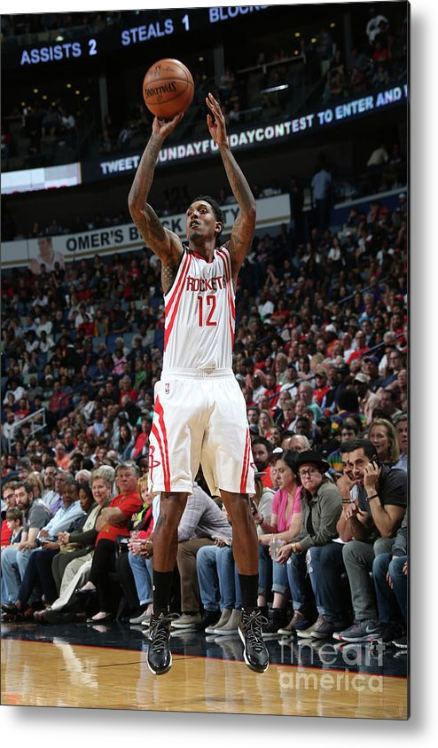 Smoothie King Center Metal Print featuring the photograph Houston Rockets V New Orleans Pelicans by Layne Murdoch