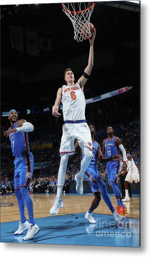 Nba Pro Basketball Metal Print featuring the photograph New York Knicks V Oklahoma City Thunder by Layne Murdoch