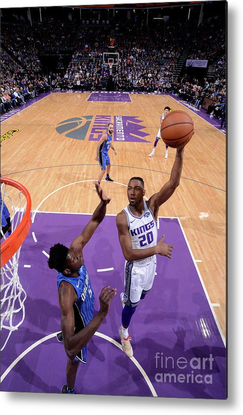 Nba Pro Basketball Metal Print featuring the photograph Orlando Magic V Sacramento Kings by Rocky Widner
