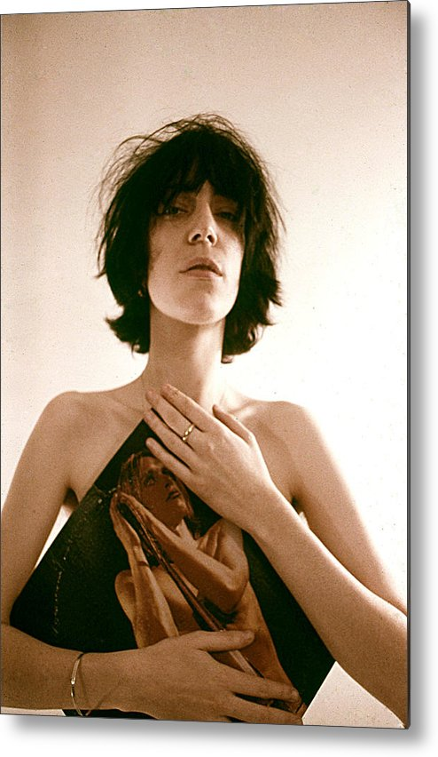 Event Metal Print featuring the photograph Patti Smith Portrait Session by Michael Ochs Archives