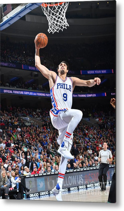 Nba Pro Basketball Metal Print featuring the photograph Philadelphia 76ers V Boston Celtics by Jesse D. Garrabrant
