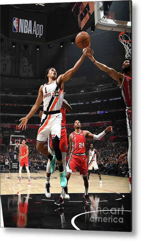 Jerome Robinson Metal Print featuring the photograph Portland Trail Blazers V La Clippers by Andrew D. Bernstein