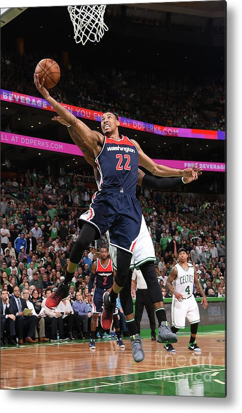 Playoffs Metal Print featuring the photograph Washington Wizards V Boston Celtics - by Brian Babineau
