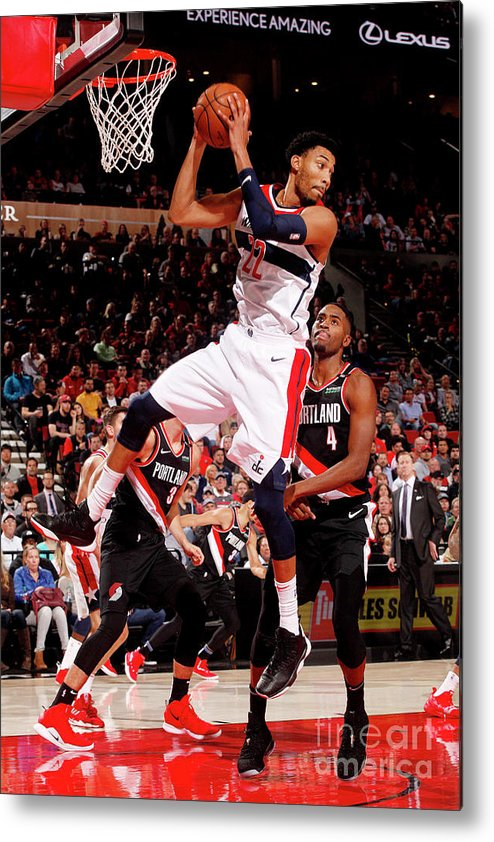 Nba Pro Basketball Metal Print featuring the photograph Washington Wizards V Portland Trail by Cameron Browne