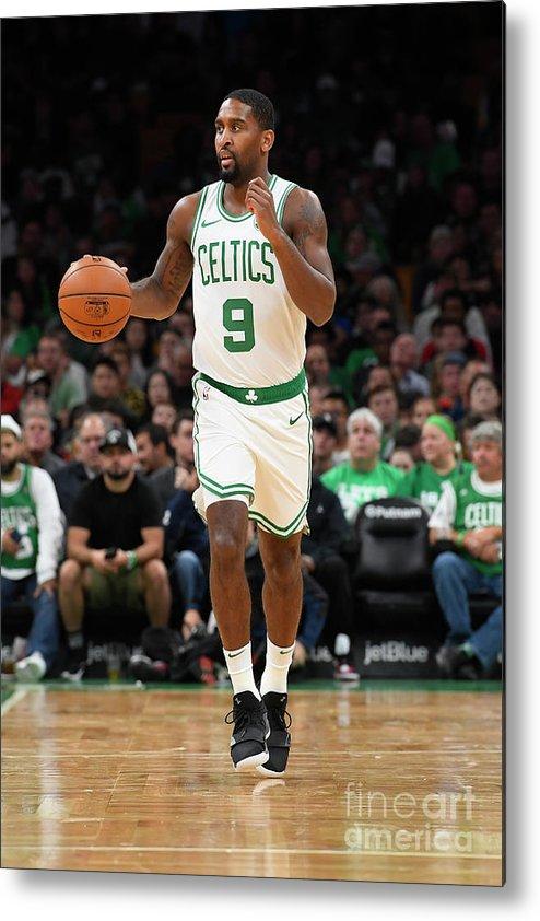 Nba Pro Basketball Metal Print featuring the photograph Charlotte Hornets V Boston Celtics by Brian Babineau