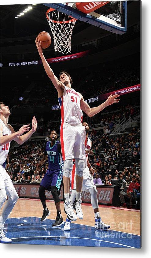 Nba Pro Basketball Metal Print featuring the photograph Charlotte Hornets V Detroit Pistons by Chris Schwegler
