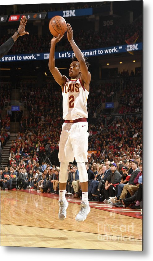Nba Pro Basketball Metal Print featuring the photograph Cleveland Cavaliers V Toronto Raptors by Ron Turenne