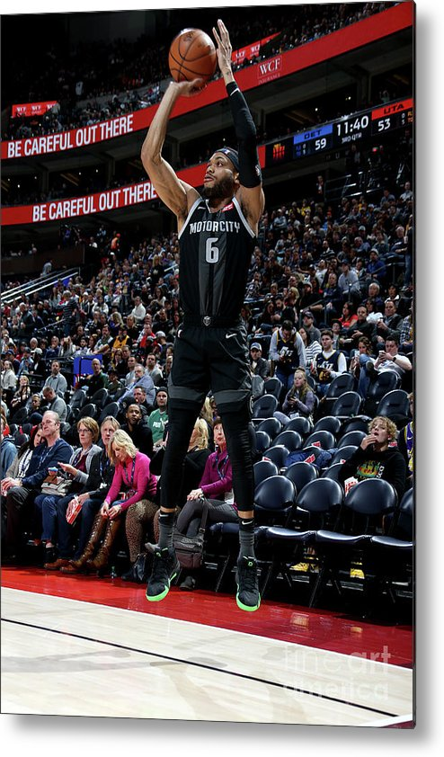 Nba Pro Basketball Metal Print featuring the photograph Detroit Pistons V Utah Jazz by Melissa Majchrzak