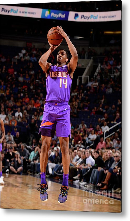 Nba Pro Basketball Metal Print featuring the photograph New Orleans Pelicans V Phoenix Suns by Barry Gossage