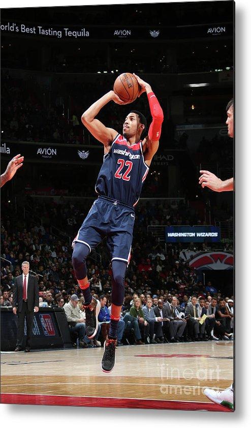 Nba Pro Basketball Metal Print featuring the photograph Philadelphia 76ers V Washington Wizards by Ned Dishman