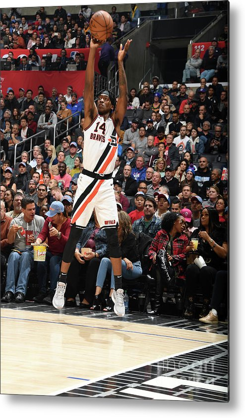 Nba Pro Basketball Metal Print featuring the photograph Portland Trail Blazers V La Clippers by Andrew D. Bernstein