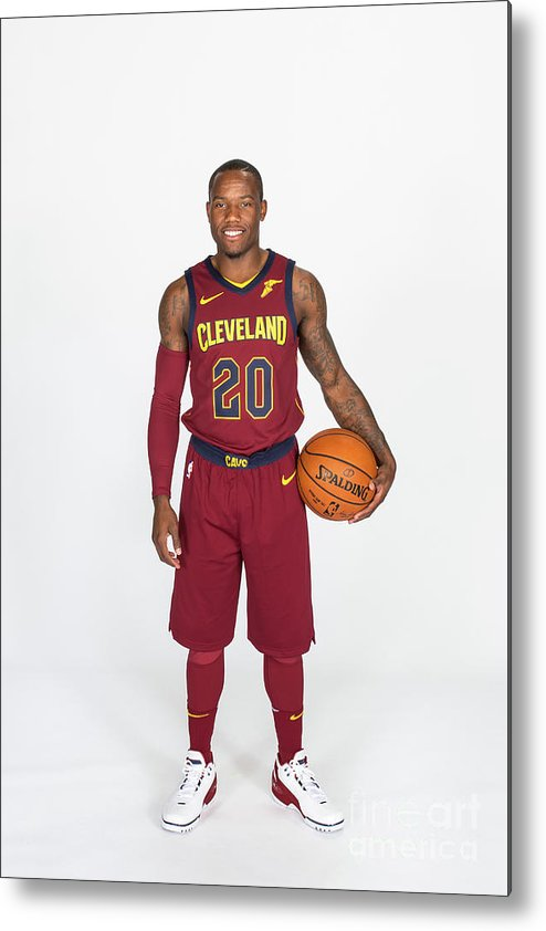 Media Day Metal Print featuring the photograph 2017-18 Cleveland Cavaliers Media Day by Michael J. Lebrecht Ii