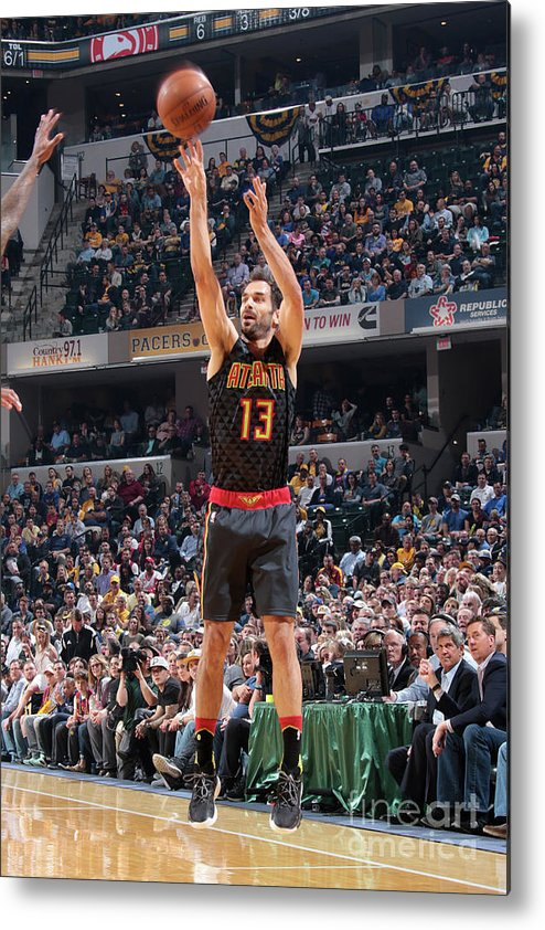 Nba Pro Basketball Metal Print featuring the photograph Atlanta Hawks V Indiana Pacers by Ron Hoskins