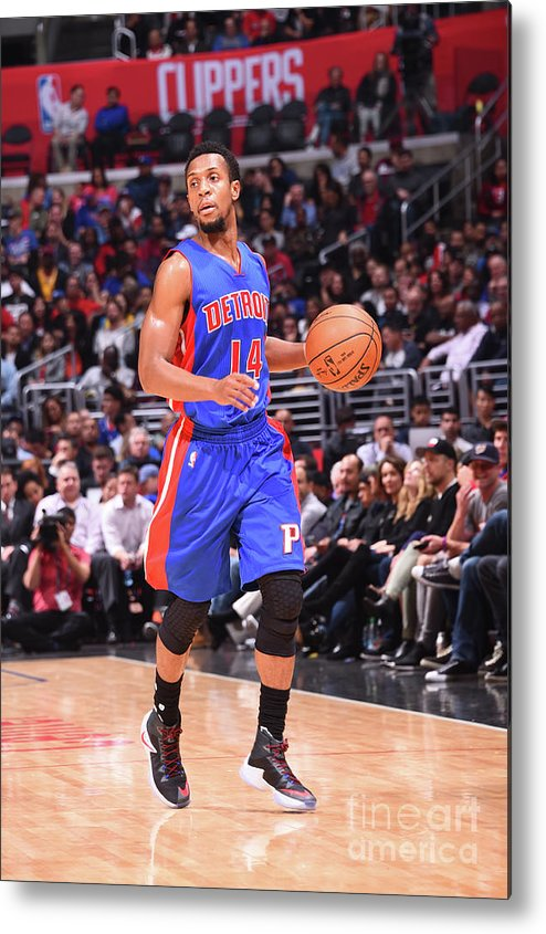 Nba Pro Basketball Metal Print featuring the photograph Detroit Pistons V La Clippers by Juan Ocampo