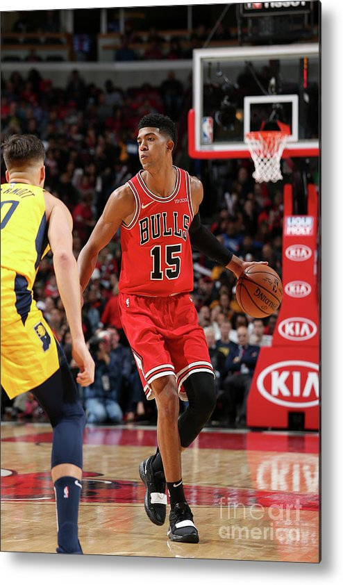 Nba Pro Basketball Metal Print featuring the photograph Indiana Pacers V Chicago Bulls by Gary Dineen