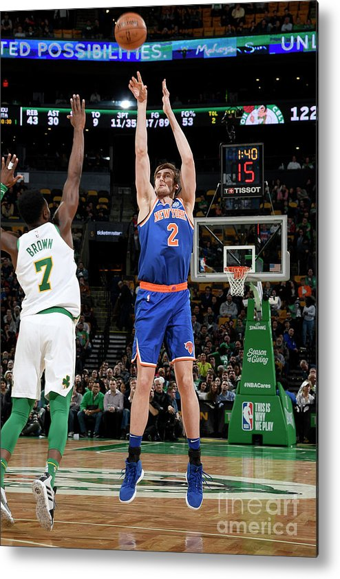 Nba Pro Basketball Metal Print featuring the photograph New York Knicks V Boston Celtics by Brian Babineau