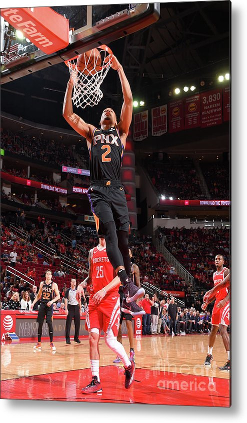 Nba Pro Basketball Metal Print featuring the photograph Phoenix Suns V Houston Rockets by Bill Baptist