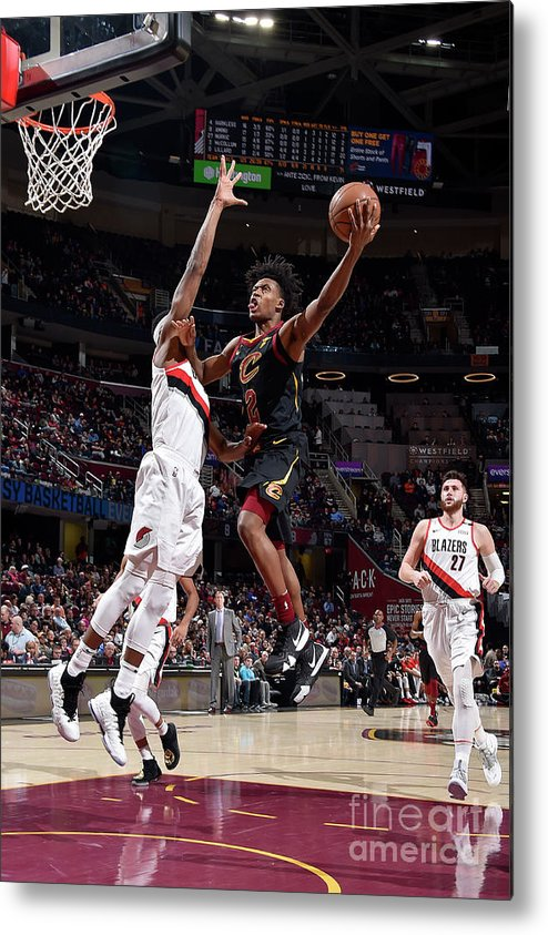 Nba Pro Basketball Metal Print featuring the photograph Portland Trail Blazers V Cleveland by David Liam Kyle