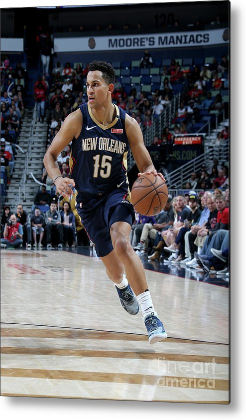 Smoothie King Center Metal Print featuring the photograph Toronto Raptors V New Orleans Pelicans by Layne Murdoch Jr.