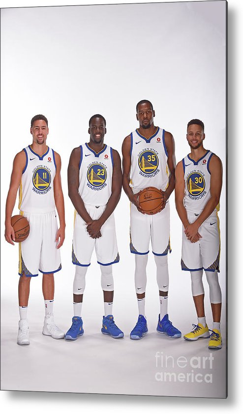 Media Day Metal Print featuring the photograph 2017-18 Golden State Warriors Media Day by Noah Graham