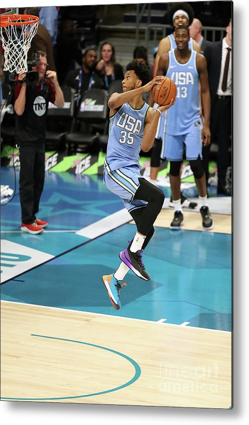 Nba Pro Basketball Metal Print featuring the photograph 2019 Mtn Dew Ice Rising Stars by Kent Smith