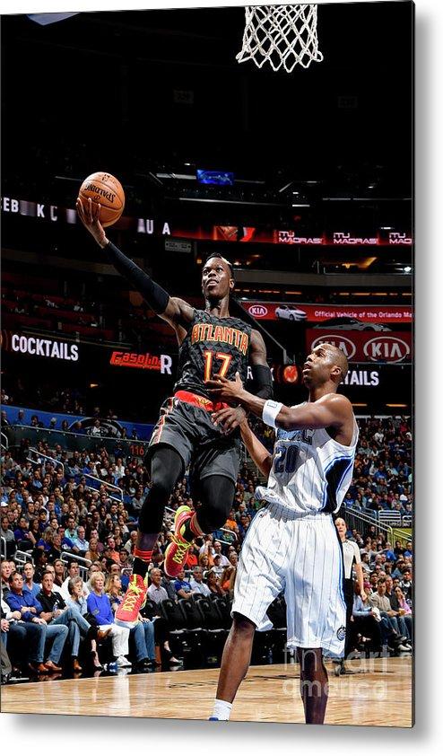 Nba Pro Basketball Metal Print featuring the photograph Atlanta Hawks V Orlando Magic by Fernando Medina