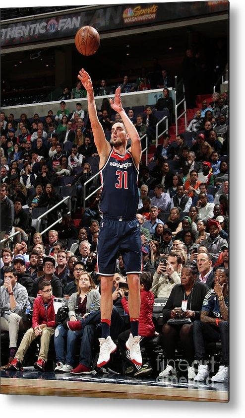Nba Pro Basketball Metal Print featuring the photograph Boston Celtics V Washington Wizards by Ned Dishman