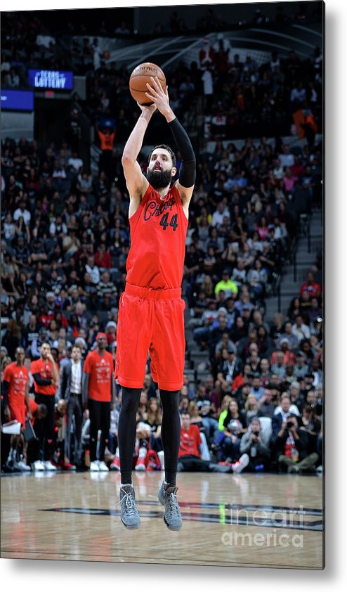 Nba Pro Basketball Metal Print featuring the photograph Chicago Bulls V San Antonio Spurs by Mark Sobhani