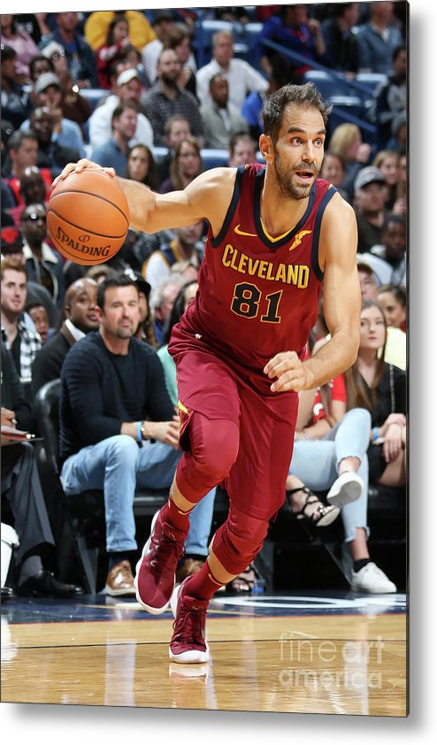 Smoothie King Center Metal Print featuring the photograph Cleveland Cavaliers V New Orleans by Layne Murdoch