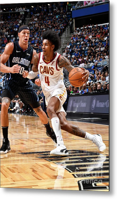 Nba Pro Basketball Metal Print featuring the photograph Cleveland Cavaliers V Orlando Magic by Fernando Medina