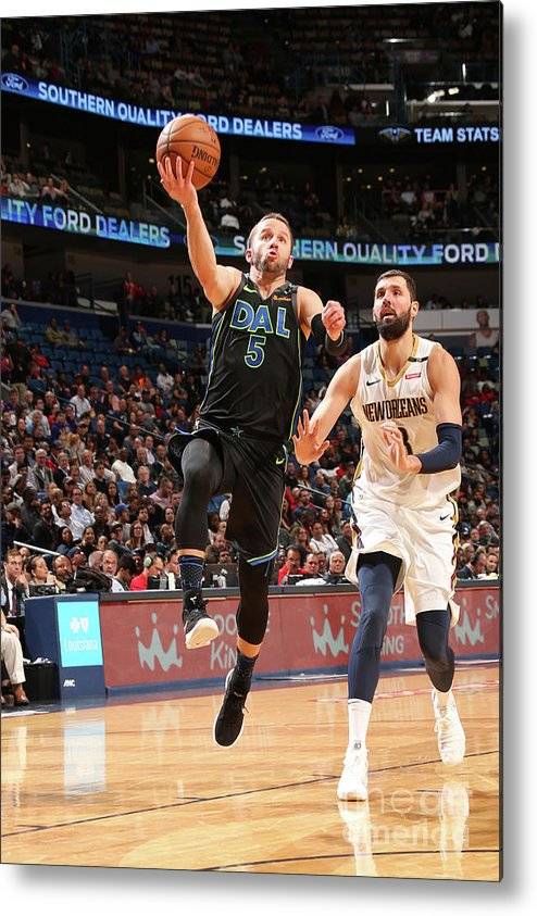 Smoothie King Center Metal Print featuring the photograph Dallas Mavericks V New Orleans Pelicans by Layne Murdoch