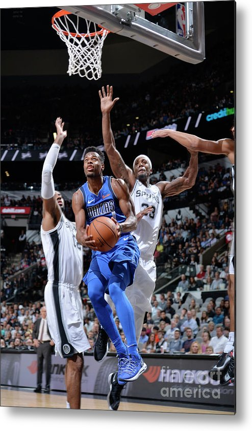 Nba Pro Basketball Metal Print featuring the photograph Dallas Mavericks V San Antonio Spurs by Mark Sobhani