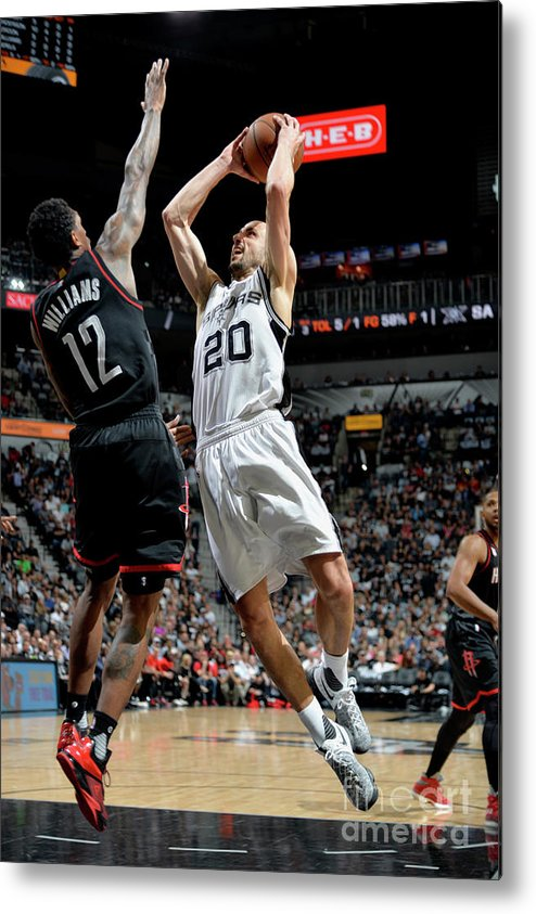 Game Two Metal Print featuring the photograph Houston Rockets V San Antonio Spurs - by Mark Sobhani