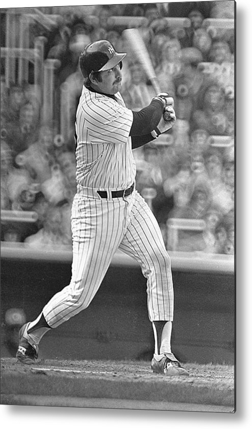 Thurman Munson Metal Print featuring the photograph New York Yankees by Ronald C. Modra/sports Imagery