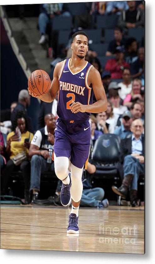 Nba Pro Basketball Metal Print featuring the photograph Phoenix Suns V Memphis Grizzlies by Joe Murphy