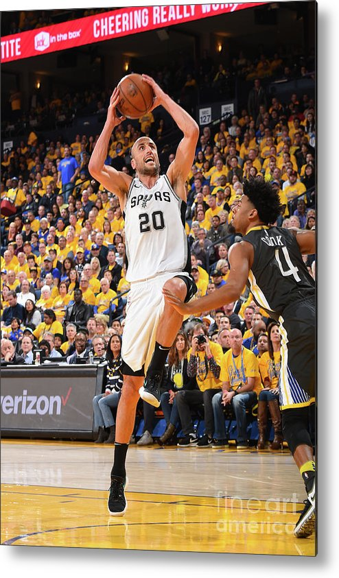 Playoffs Metal Print featuring the photograph San Antonio Spurs V Golden State by Andrew D. Bernstein