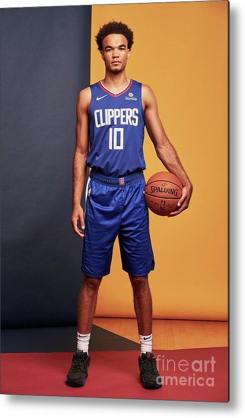 Jerome Robinson Metal Print featuring the photograph 2018 Nba Rookie Photo Shoot by Jennifer Pottheiser