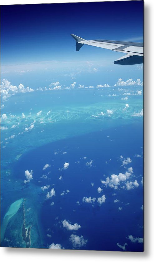 Scenics Metal Print featuring the photograph Airplane View Of The Caribbean by Cdwheatley