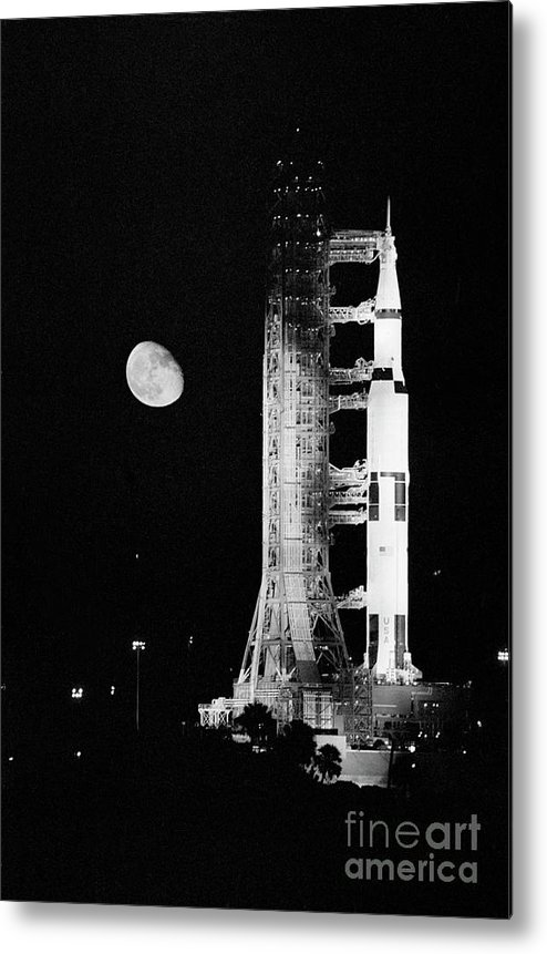 Research Metal Print featuring the photograph Apollo 11 Spacecraft Ready For Liftoff by Bettmann