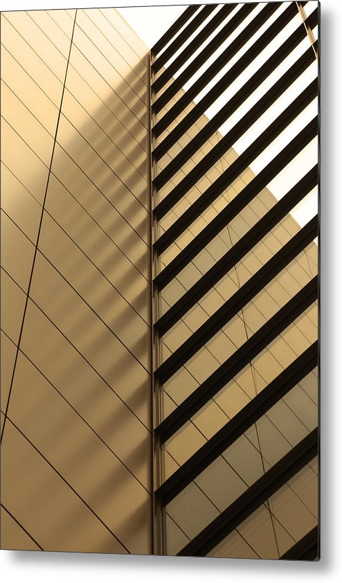 Architectural Feature Metal Print featuring the photograph Architecture Reflection by Tomasz Pietryszek