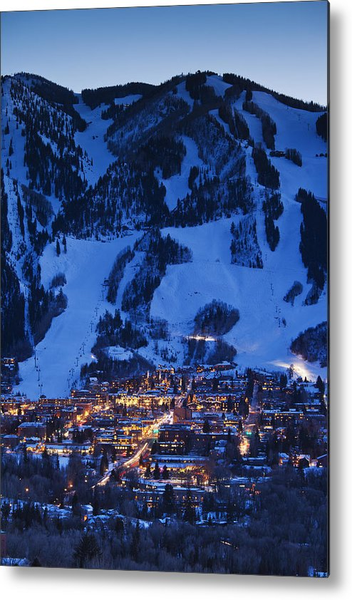 Aspen Metal Print featuring the photograph Aspen Mountain, Winter by Walter Bibikow