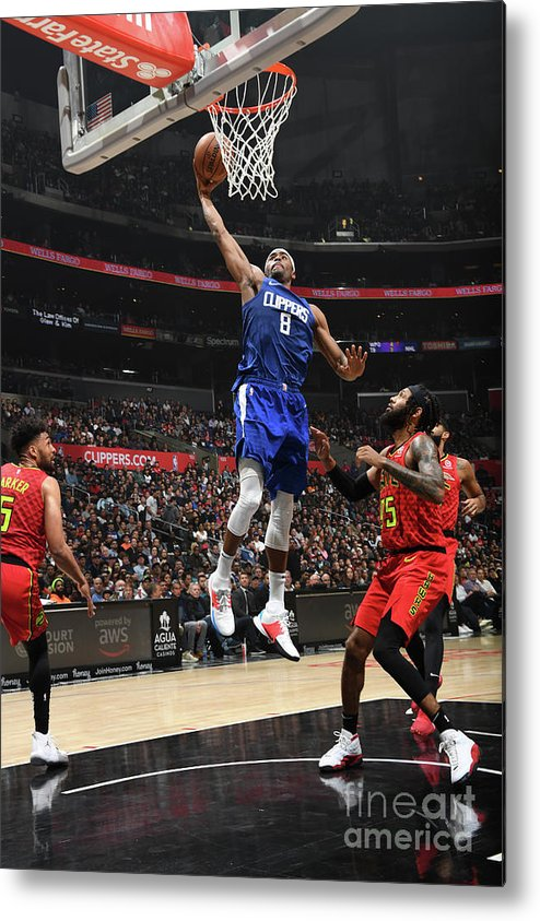 Moe Harkless Metal Print featuring the photograph Atlanta Hawks V La Clippers by Andrew D. Bernstein