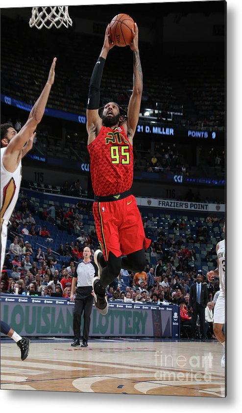 Smoothie King Center Metal Print featuring the photograph Atlanta Hawks V New Orleans Pelicans by Layne Murdoch Jr.