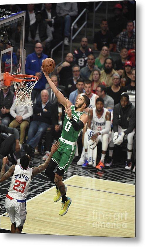 Nba Pro Basketball Metal Print featuring the photograph Boston Celtics V La Clippers by Adam Pantozzi