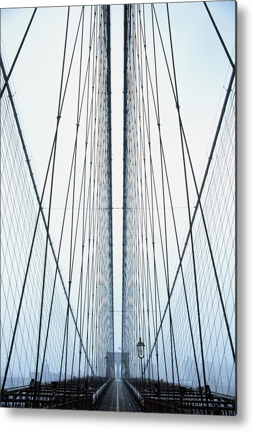Suspension Bridge Metal Print featuring the photograph Brooklyn Bridge by Eric O'connell