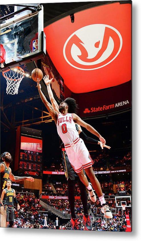 Atlanta Metal Print featuring the photograph Chicago Bulls V Atlanta Hawks by Scott Cunningham