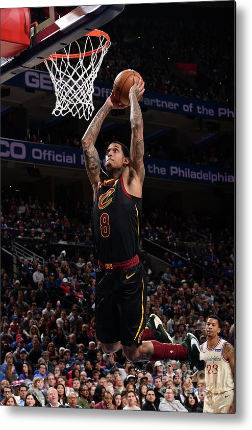 Nba Pro Basketball Metal Print featuring the photograph Cleveland Cavaliers V Philadelphia 76ers by David Dow