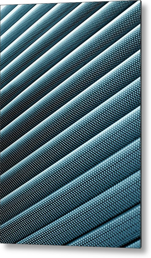 Shadow Metal Print featuring the photograph Close-up Abstract Of Lined Pattern by Ralf Hiemisch