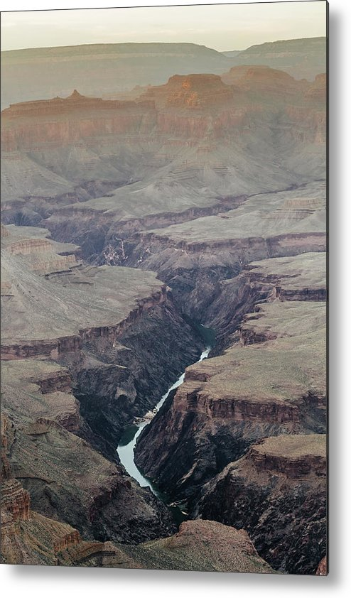 Scenics Metal Print featuring the photograph Colorado River In In The Grand Canyon by Deimagine