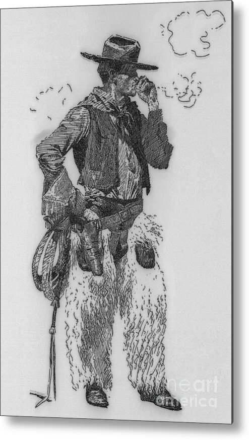 People Metal Print featuring the photograph Cowboy by Bettmann